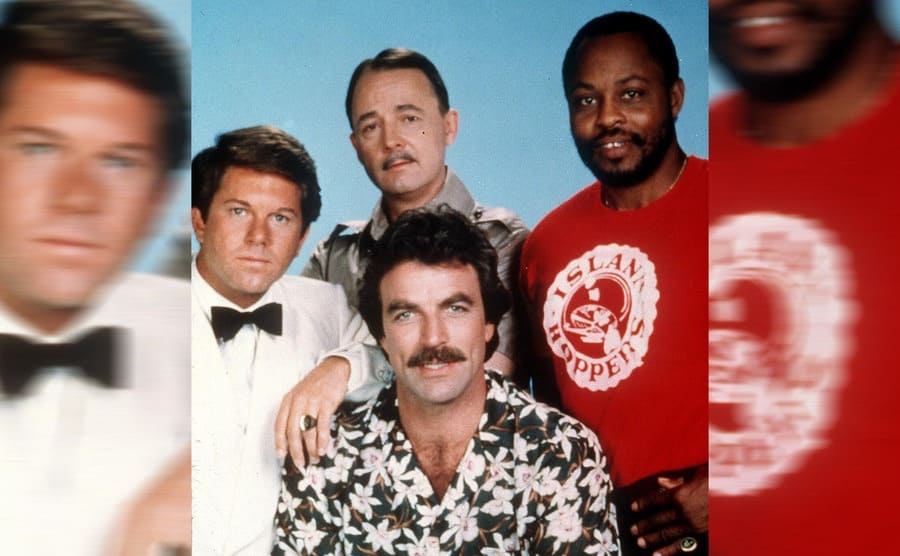 Larry Manetti, Tom Selleck, John Hillerman, and Roger Mosley