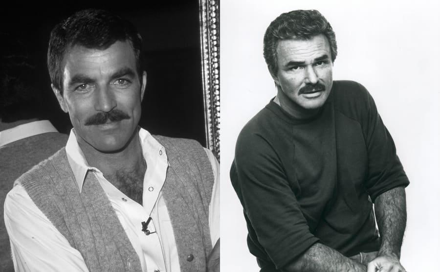 Tom Selleck in 1980 / Burt Reynolds