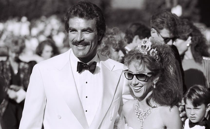 Tom Selleck and Jillie Mack at the 1985 Emmy Awards.