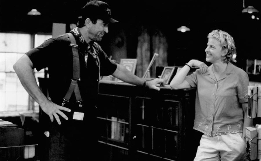 Tom Selleck and Ellen Degeneres in The Love Letter 1999.