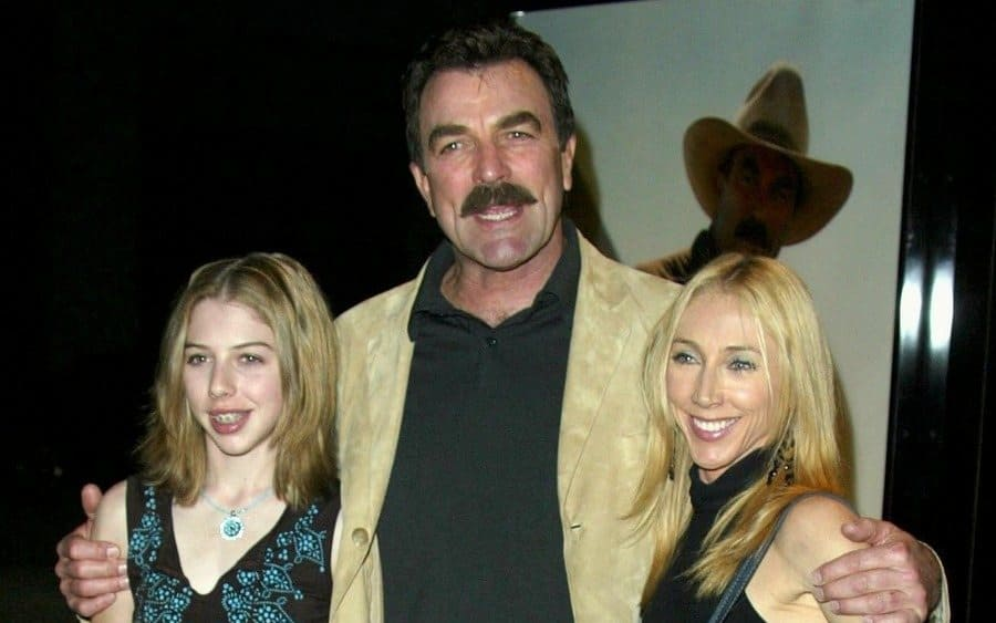 Tom Selleck with his wife and daughter in 2003