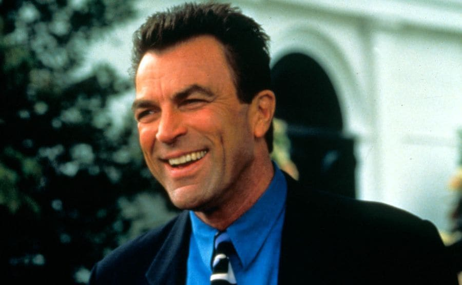 Tom Selleck without a mustache in 1997
