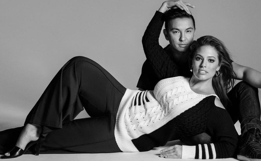 Ashley Graham posing for an ad in Lane Bryant