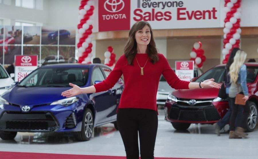 Laurel Coppock in Toyota commercial