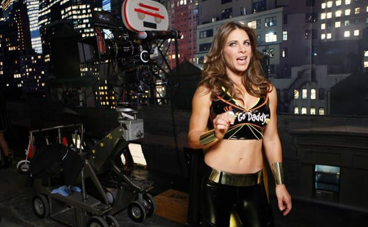 Jillian Michaels in the Go Daddy commercial