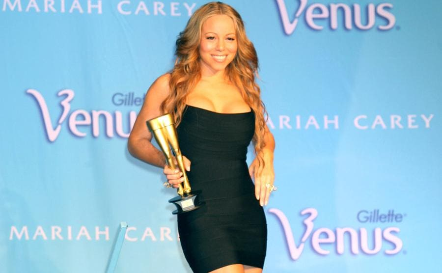 Mariah Carey at a Gillette event in 2006