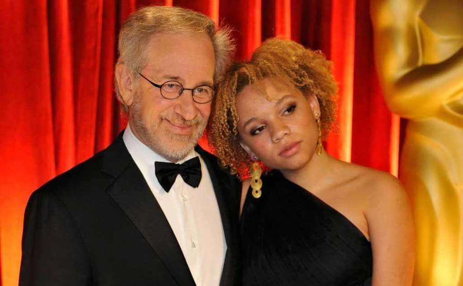 Steven Spielberg and Mikaela Speilberg