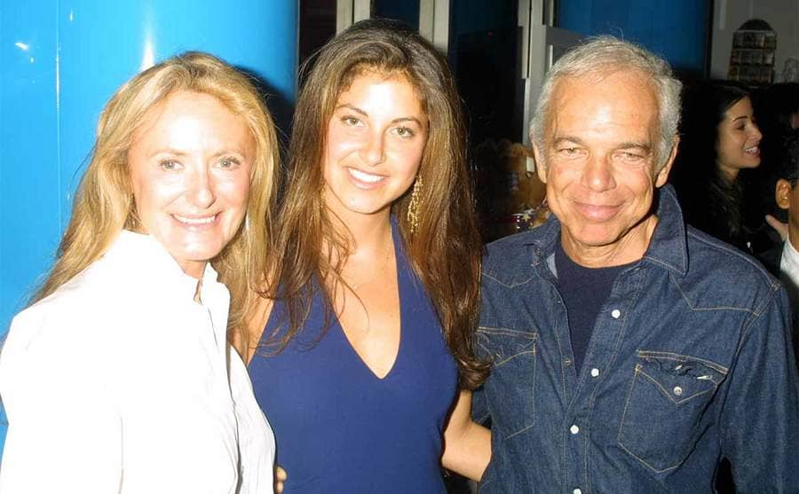 Dylan Lauren with her mother Ricky and father Ralph Lauren