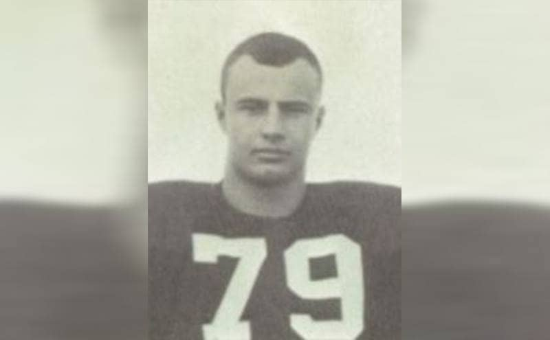 Dr. Phil in his high school football uniform