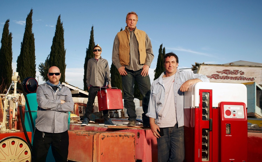 Rick Dale and his fellow cast members on American Restoration