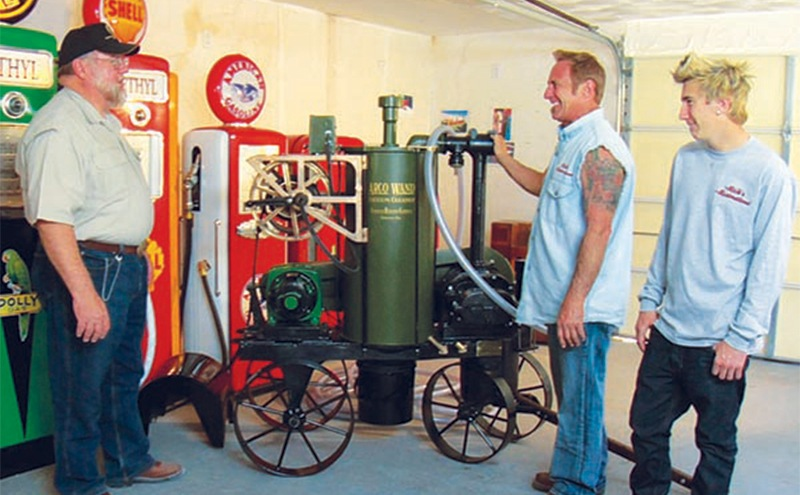 Rick revealing an old restored vacuum