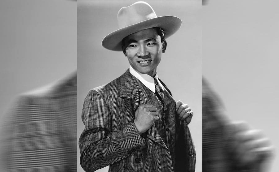 Victor Sen Yung dressed up in a promotional photograph