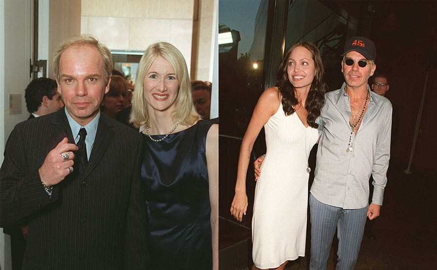 Billy Bob Thorton and Laura Dern on the red carpet / Angelina Jolie and Billy Bob Thorton on the red carpet in 2001
