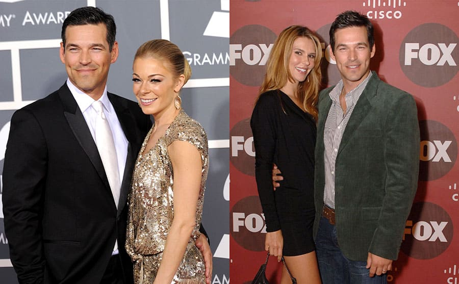 Eddie Cibrian and LeAnn Rimes on the red carpet in 2011 / Brandi Glanville and Eddie Cibrian on the red carpet in 2006