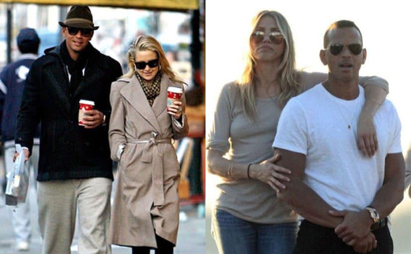 Alex Rodriguez and Kate Hudson holding Starbucks coffee walking around the street / Cameron Diaz and Alex Rodriguez hanging around