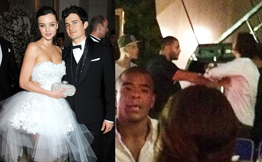 Miranda Kerr and Orlando Bloom on the red carpet / Orlando Bloom and Justin Bieber fighting