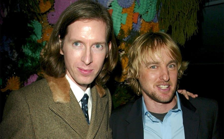 Wes Anderson and Owen Wilson at an event together