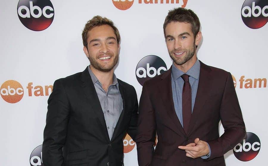 Ed Westwick and Chase Crawford on the red carpet together in 2015