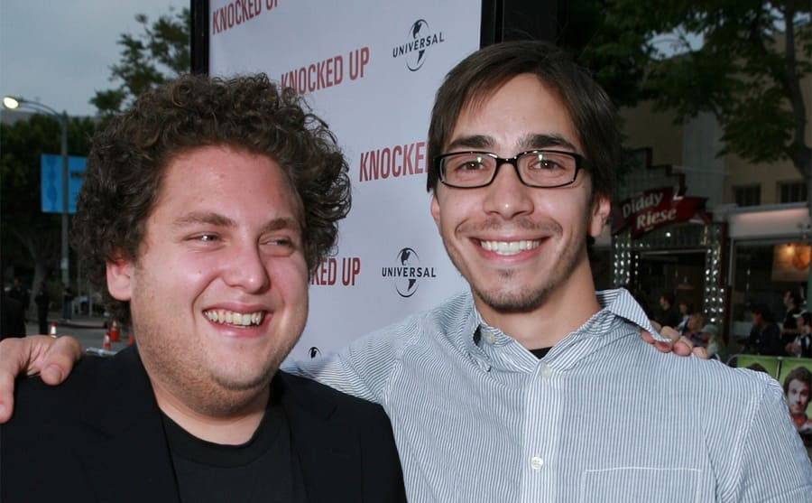 Jonah Hill and Justin Long on the red carpet in 2007