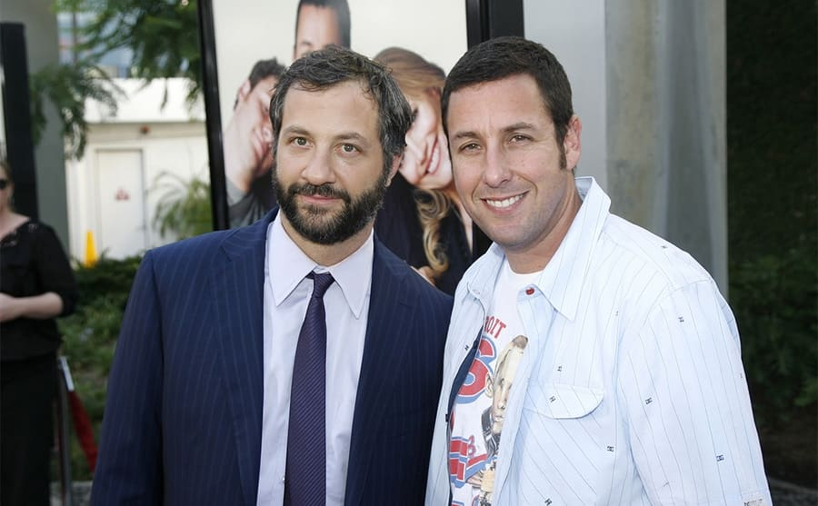 Judd Apatow and Adam Sandler on the red carpet in 2009