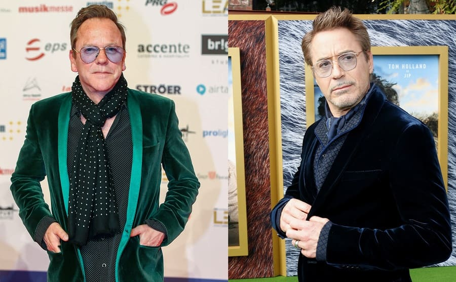 Kiefer Sutherland on the red carpet / Robert Downey Jr on the red carpet