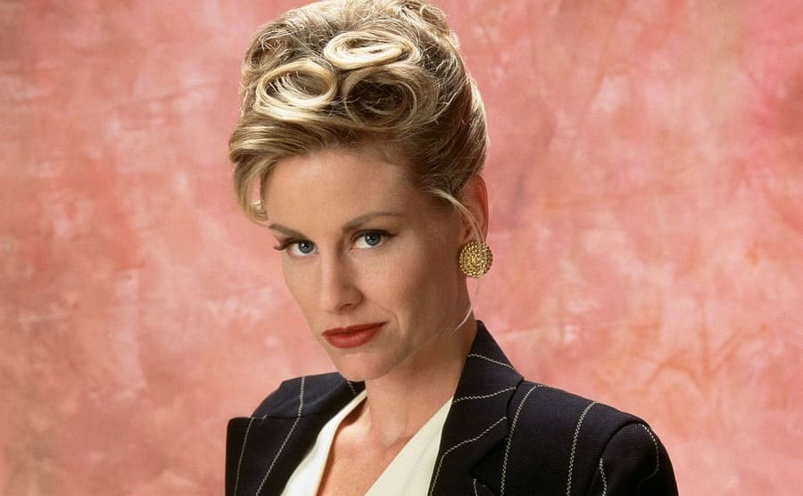 Lauren Lane dressed up in a promotional shot for the show The Nanny
