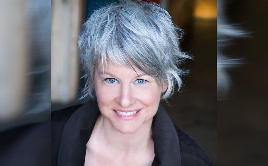 Lauren Lane today with a short grey haircut