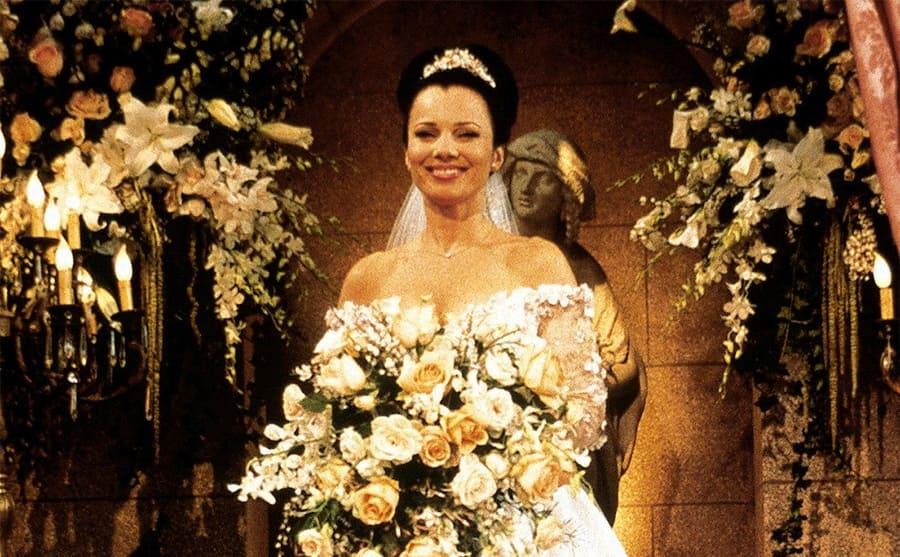 Fran Drescher as Fran Fine on her wedding day on The Nanny