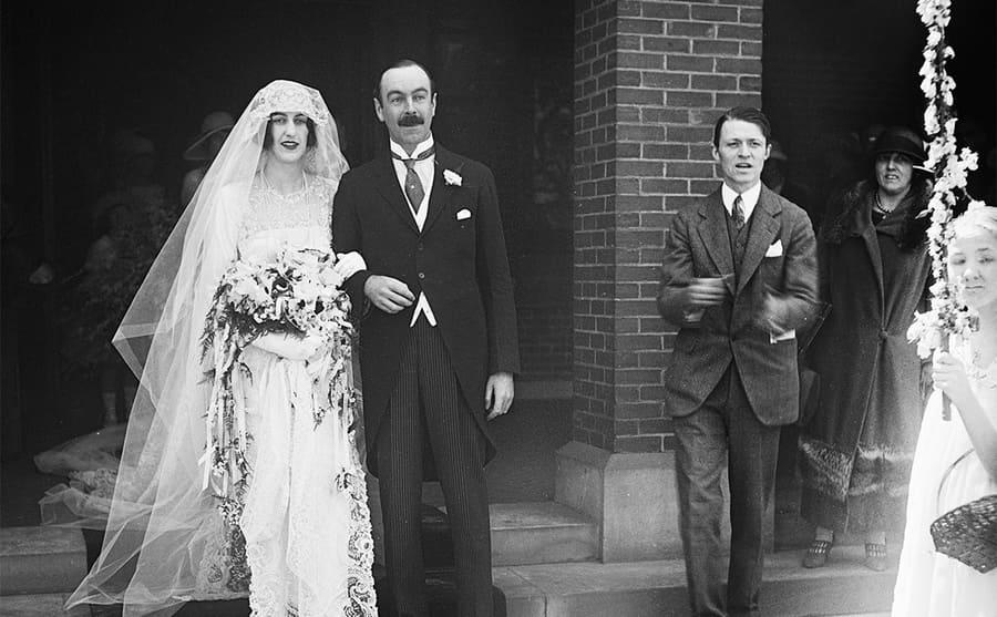 Cornelia Vanderbilt and John Cecil on the wedding day 1924