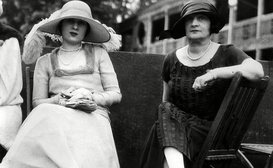 Gloria Morgan Vanderbilt and Laura Kilpatrick Morgan photographed together circa 1934.