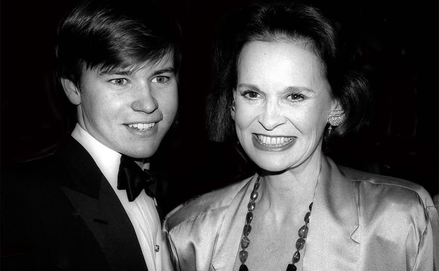 Carter Cooper and Gloria Vanderbilt at an event