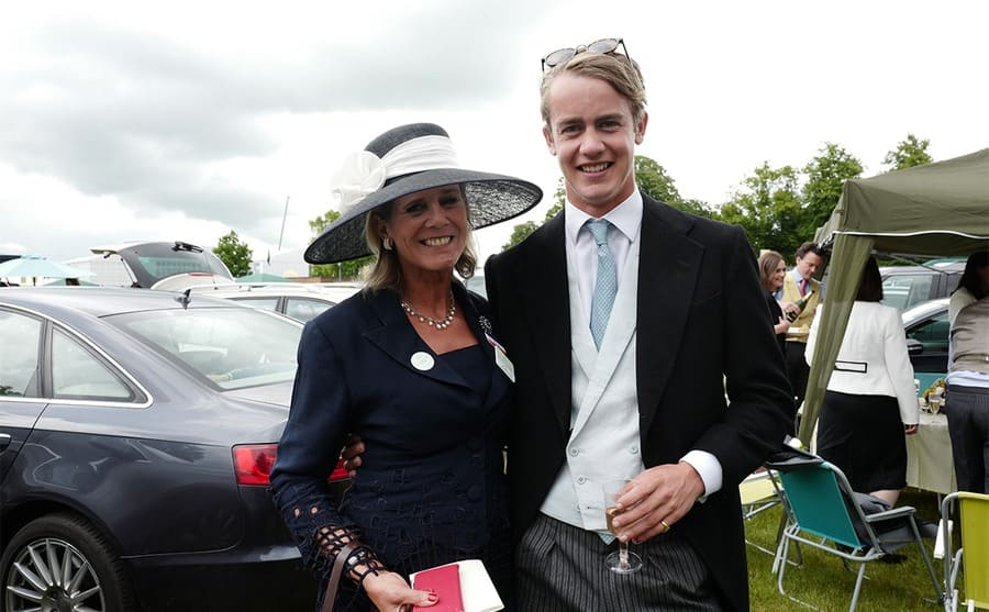 George Spencer-Churchill and his mother at an event in 2016