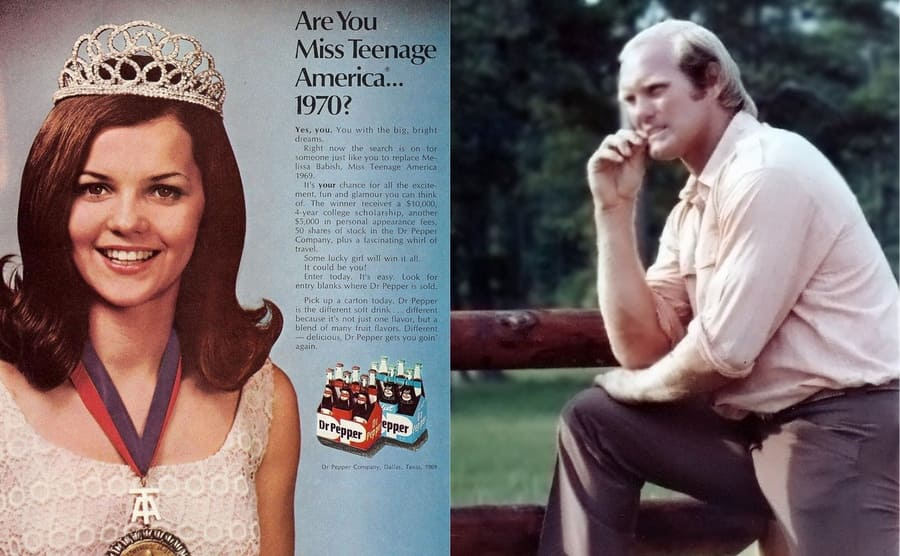 Side by side images of Melissa Babish and Terry Bradshaw