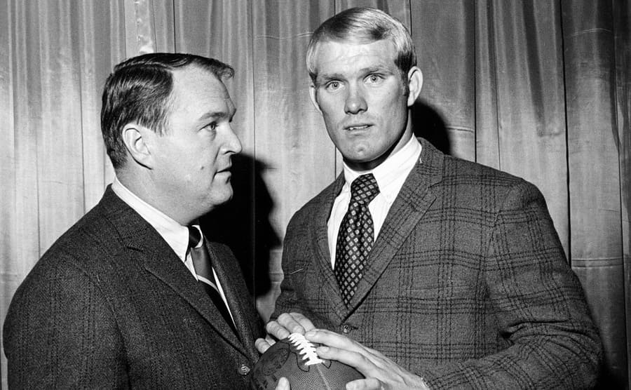 black and white image of Terry Bradshaw