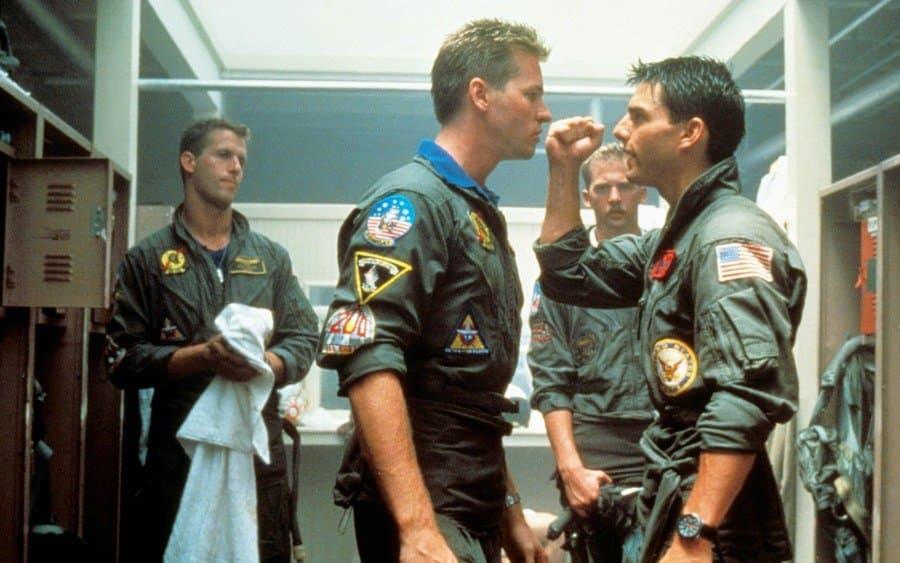 Top Gun, Rick Rossovich, Val Kilmer, Anthony Edwards, Tom Cruise