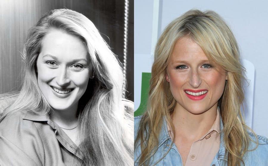 A portrait of Meryl Streep 1980 / Mamie Gummer 2012