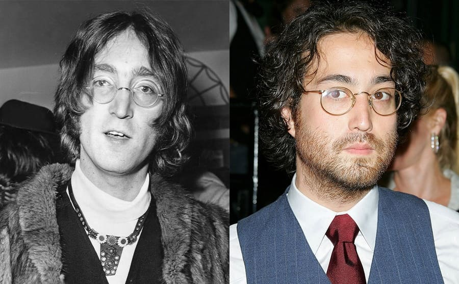 John Lennon circa 1968 / Sean Lennon on the red carpet in 2006