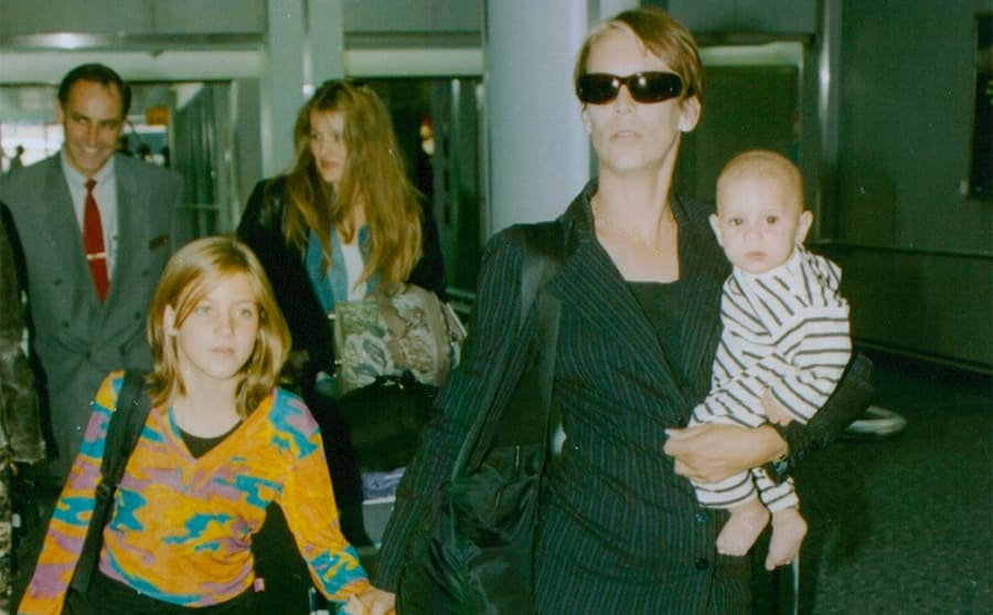 Jamie Lee Curtis with her daughter Annie and son Tom