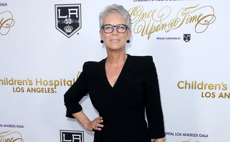 Jamie Lee Curtis on the red carpet at a charity event
