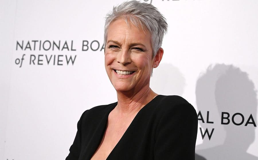 Jamie Lee Curtis at a red-carpet event 2020