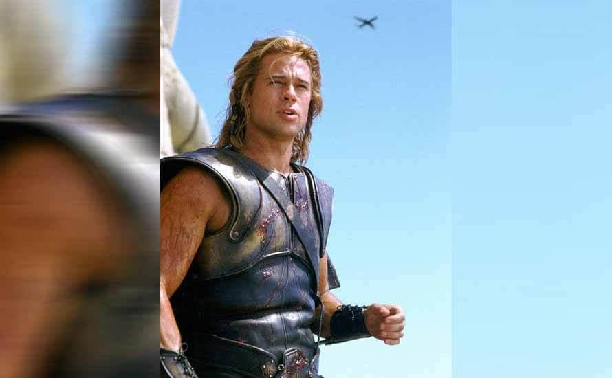 Brad Pitt in the film Troy
