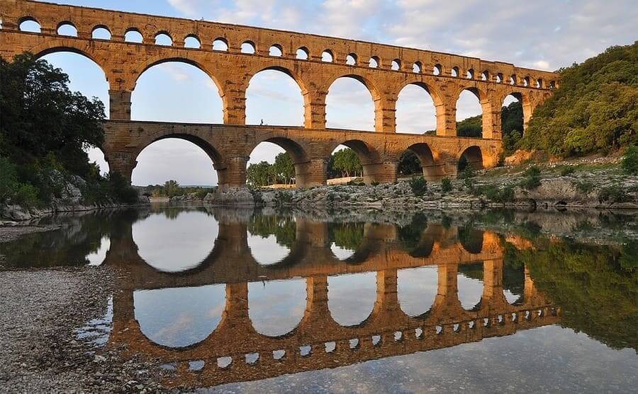The double layered Pont du Gard