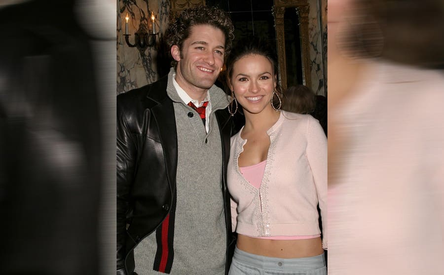 Matthew Morrison and Chrishell Stause on the red carpet in 2005