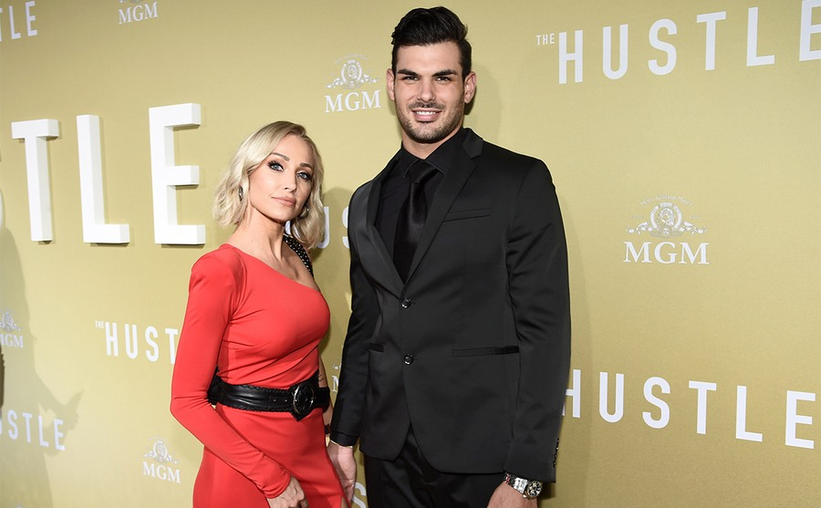 Mary and Romain on the red carpet in 2019