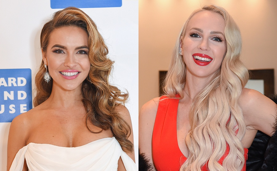 Chrishell Stause on the red carpet / Christine Quinn at an event