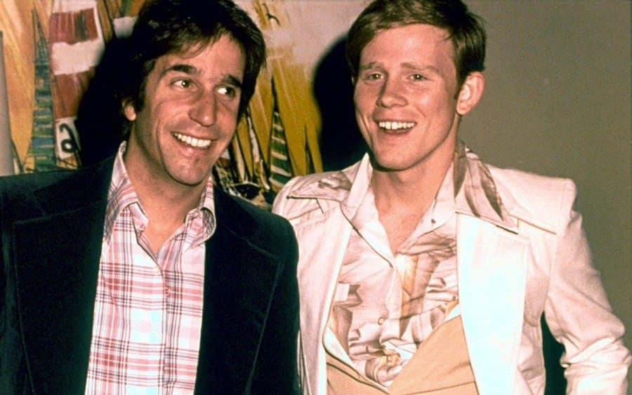 Ron Howard and Henry Winkler of 'Happy Days' - 1979