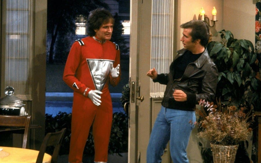 Mork from the planet Ork meets Fonzie