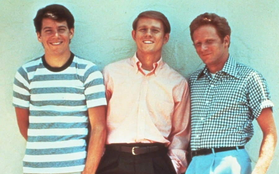 Film Stills of 'Happy Days - TV' 1977, Ron Howard, Don Most, Anson Williams.
