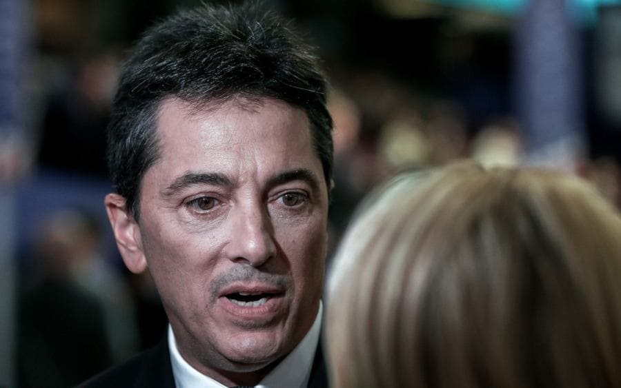 Scott Baio is interviewed at the Republican National Convention by CNN