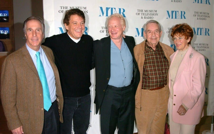 Henry Winkler, Anson Williams, Don Most, Tom Bosley and Marion Ross Happy Days 30th Reunion.